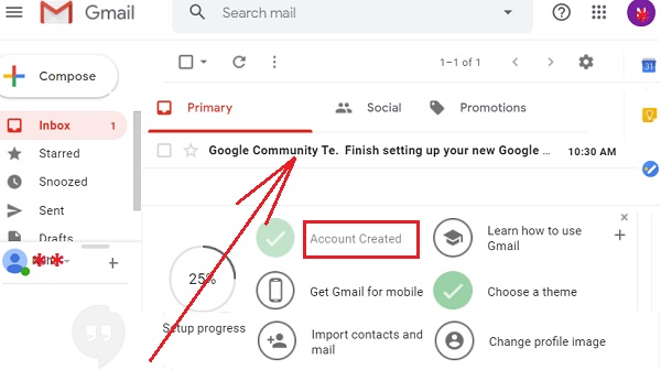 Account on Gmail 11
