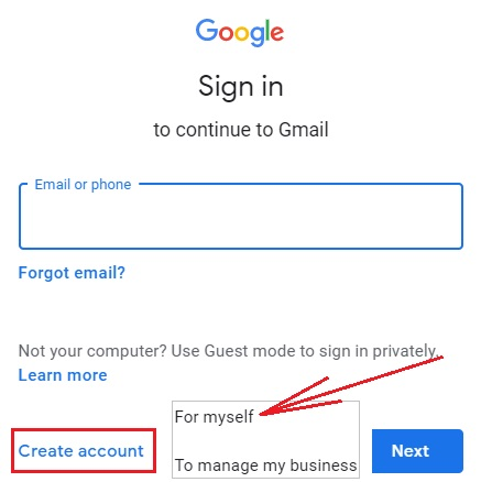 Account on Gmail 2