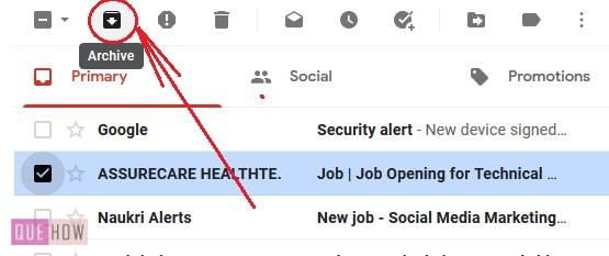 Archive in Gmail 3