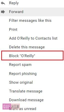 Block Emails on Gmail - 4