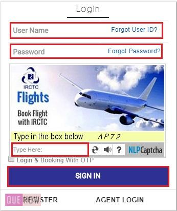 Book Tatkal Ticket in IRCTC 1