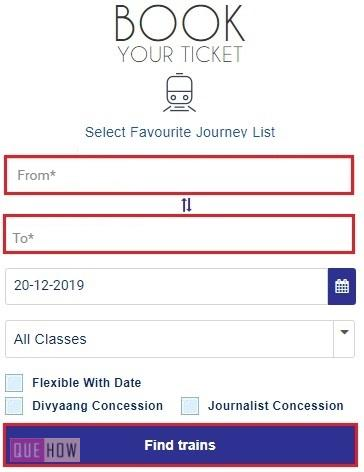 Book Tatkal Ticket in IRCTC 2