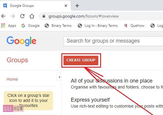 CREATE A GROUP IN GOOGLE -2