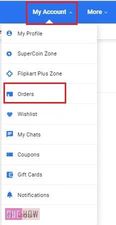Ccancel an Order on Flipkart 3