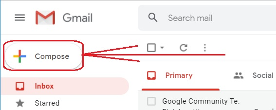 Compose email in Gmail 2