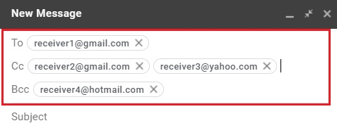Compose email in Gmail 4
