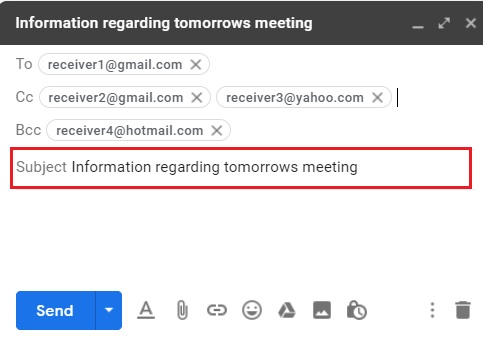 Compose email in Gmail 5