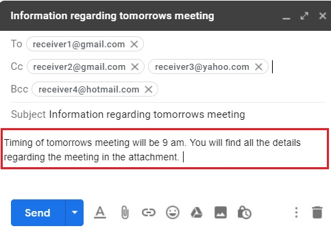 Compose email in Gmail 6