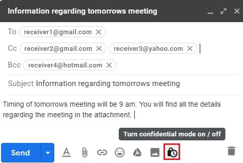 Compose email in Gmail 8.1