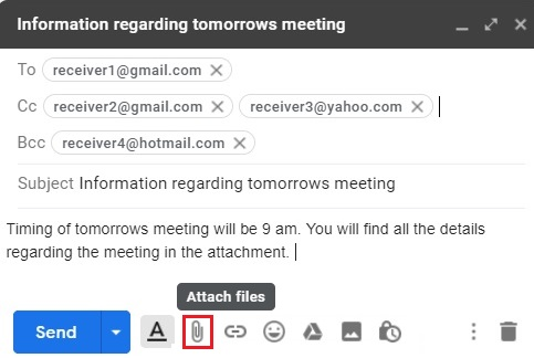 Compose email in Gmail 8