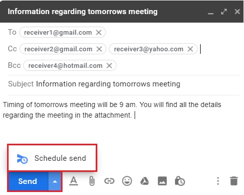 Compose email in Gmail 9