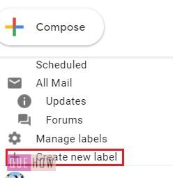 Create a folder in Gmail - 05