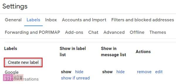 Create a folder in Gmail - 06