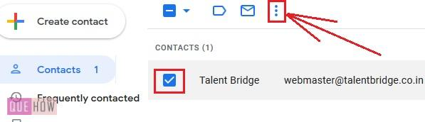 Delete contacts in Gmail 5