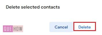 Delete contacts in Gmail 7