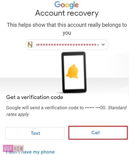 Reset Password in Gmail Automated Call 4