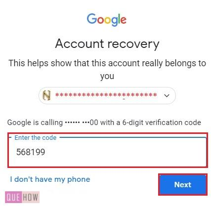 Reset Password in Gmail Automated Call 5