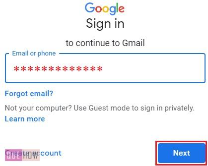 Reset Password in Gmail Text Message 1