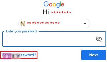 Reset Password in Gmail Text Message 2