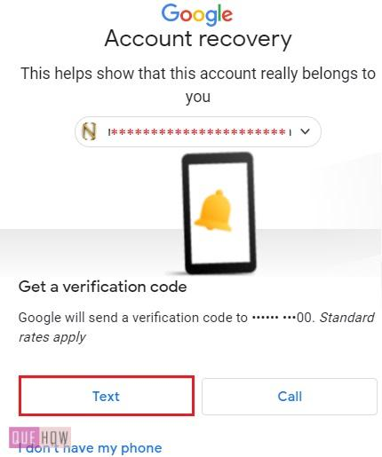 Reset Password in Gmail Text Message 4