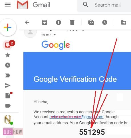 Reset Password in Gmail using email verification 6
