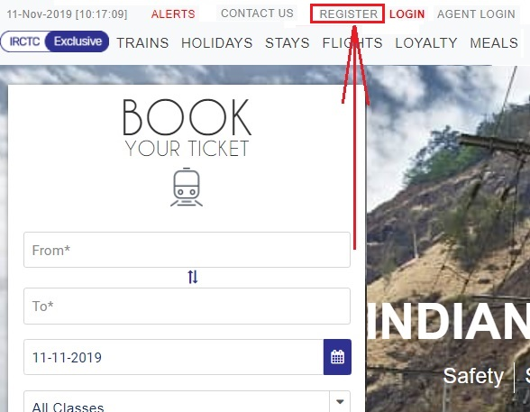 create irctc account 1