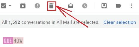 delete all mails in Gmail -- 6-1