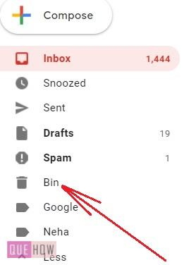 delete trash in Gmail - 3