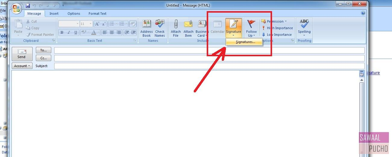 how-to-make-signature-outlook-2007-step2