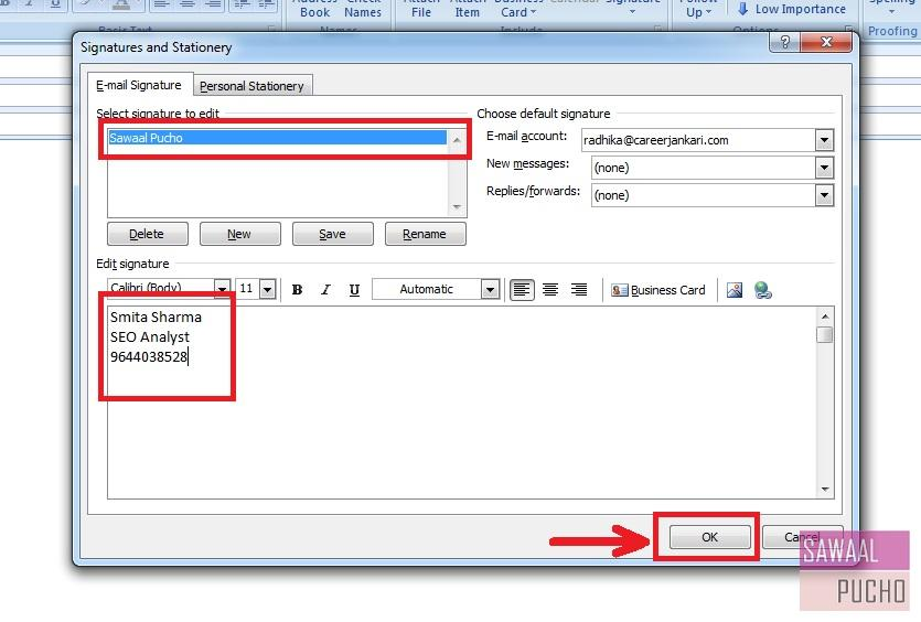 how-to-make-signature-outlook-2007-step5