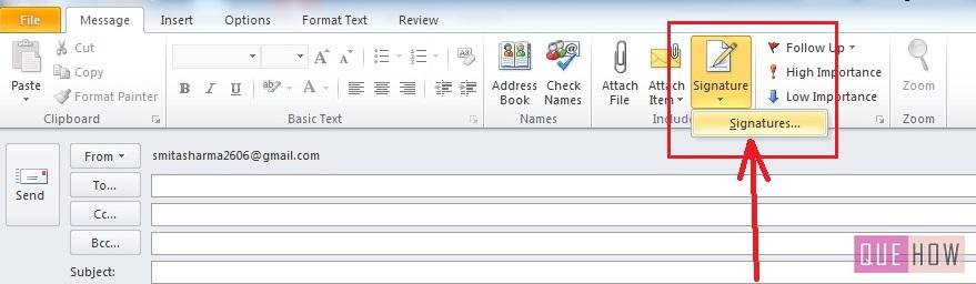How-to-Make-Signature-Outlook 2010-step2