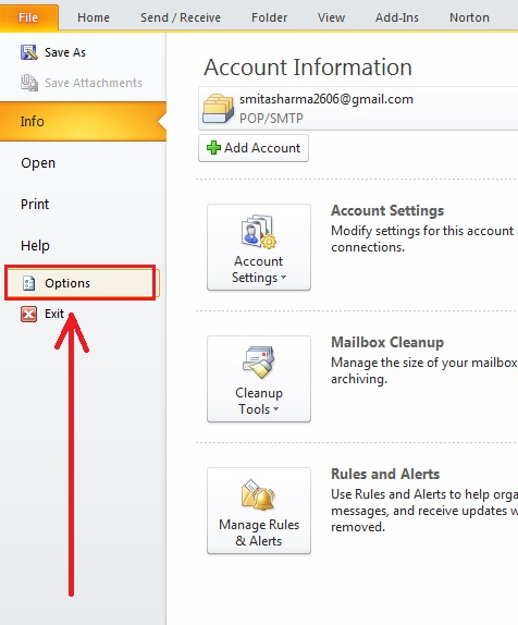 How-to-put-Signature-Outlook 2010-step2