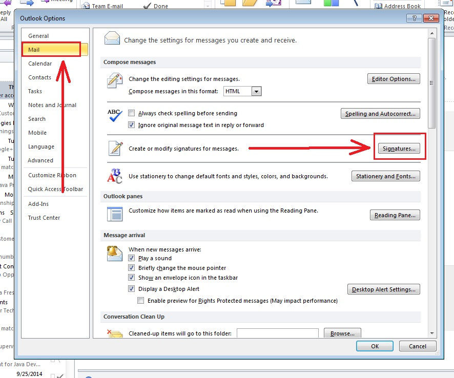 How-to-put-Signature-Outlook 2010-step3