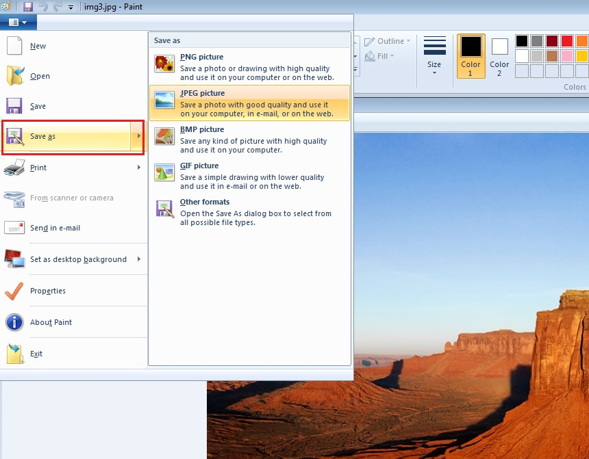 how to take screenshot in windows 7 step4