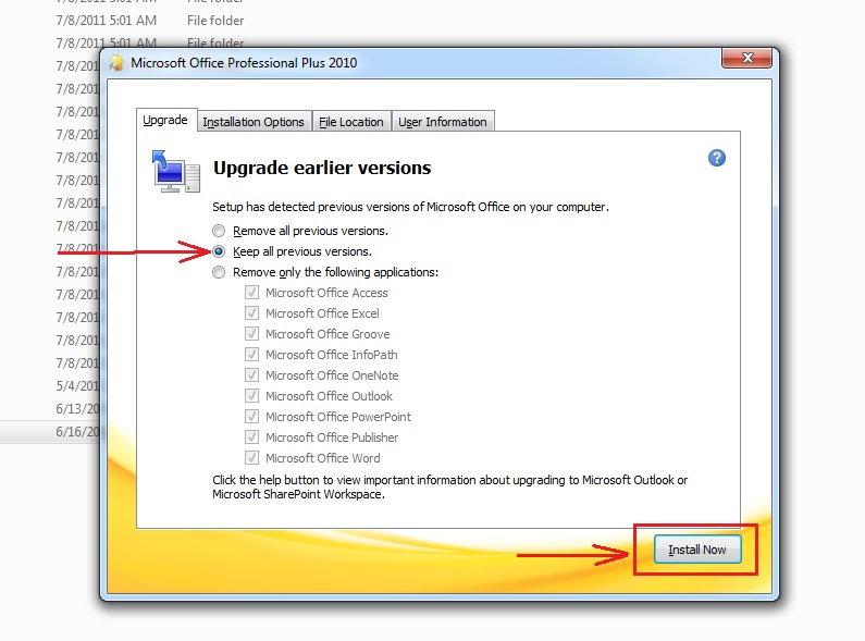 Install MS Office 2010 Without Removing 2007,2003: 7 steps (with ...