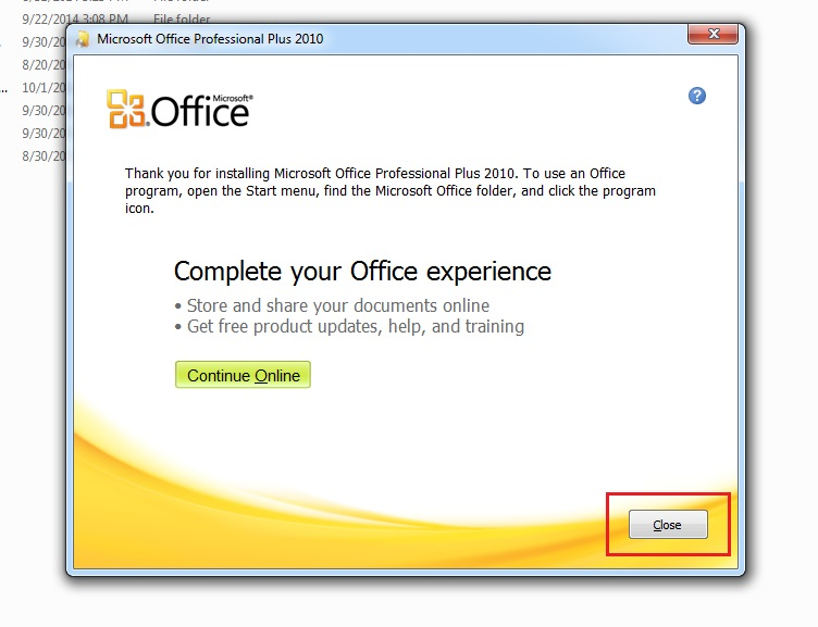 Install-MS Office 2010-without-removing-2007,2003-step6