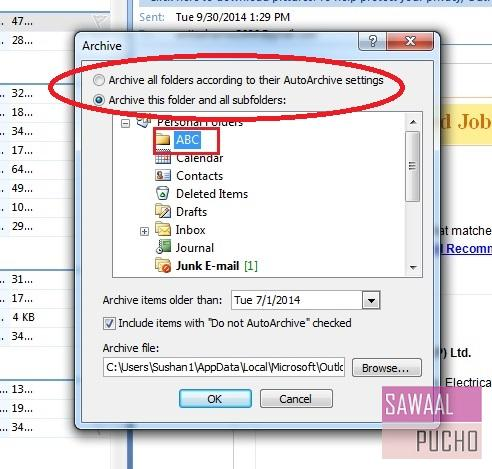 how-to-archive-emails-folders-outlook 2007-step2
