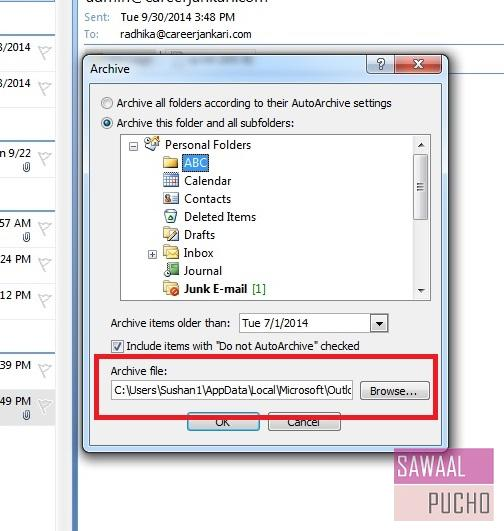 how-to-archive-emails-folders-outlook 2007-step5