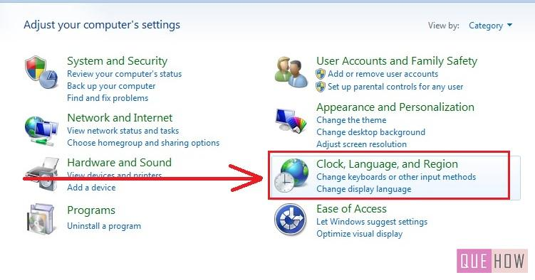 how to change language windows 7 step2