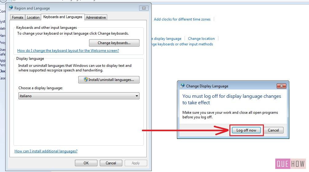 how to change language windows 7 step6