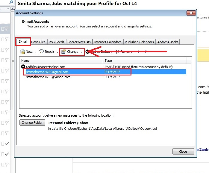 how-to change-name-outlook 2010-step3