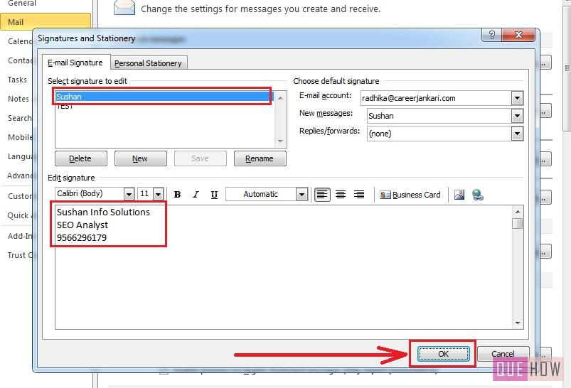 how-to-edit-signature-outlook 2010-step6