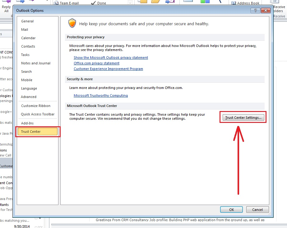 how-to-encrypt-e-mail-outlook 2010-step3