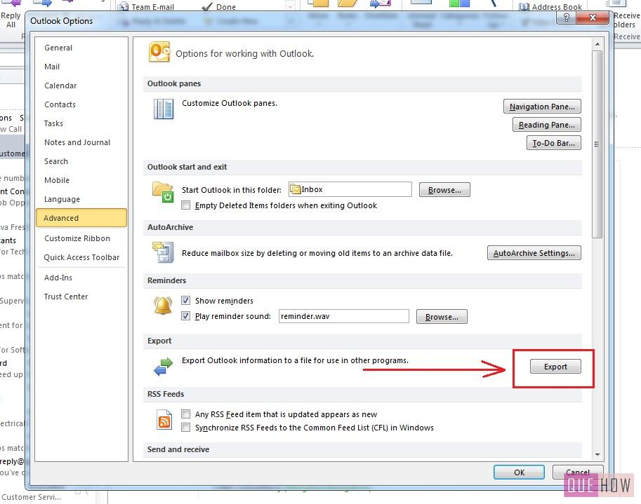 how-to-export-contacts-outlook 2010-excel-step4