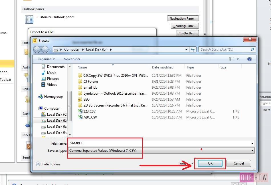 how-to-export-contacts-outlook 2010-excel-step8