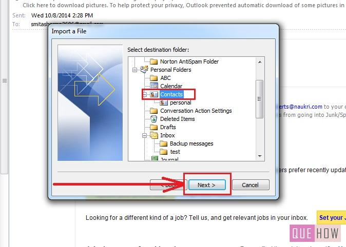 how to delete contacts from outlook 2010
