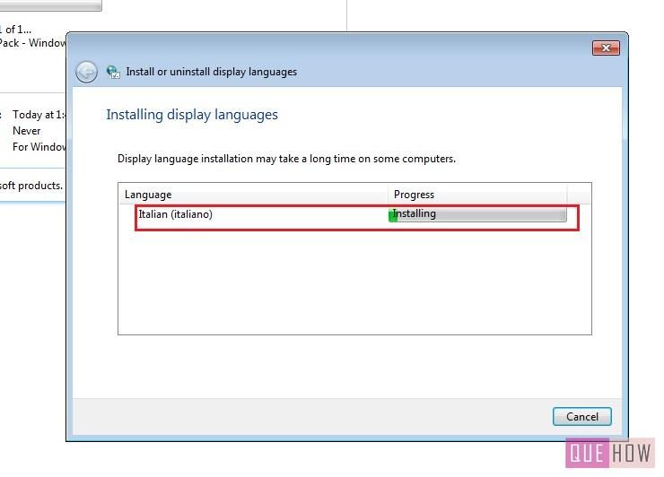 how to install language pack windows 7 step10
