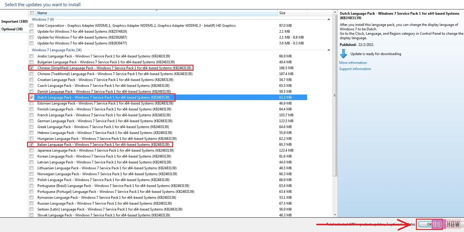how to install language pack windows 7 step6
