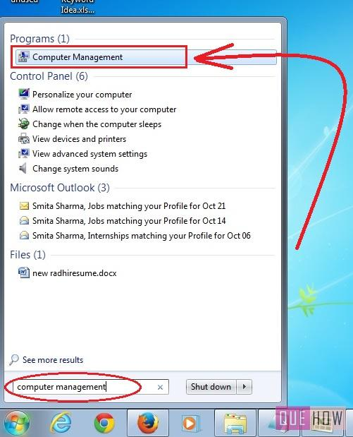 how to make disk partition in windows 7 after installation step1