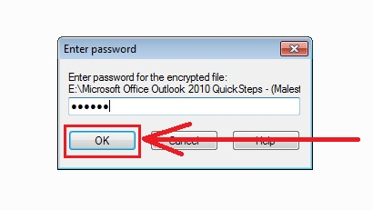 how to password protect a folder in windows 7 step5